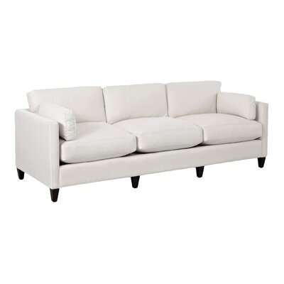 Caroline Sofa Body Fabric: Tibby Pewter, Pillow Fabric: Tibby Pewter