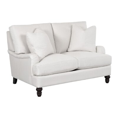 Delphine Loveseat Body Fabric: Tibby Pewter, Pillow Fabric: Tibby Pewter
