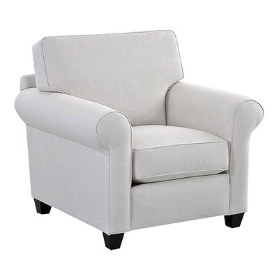 Eliza Arm Chair Body Fabric: Glynnlinen Optic White