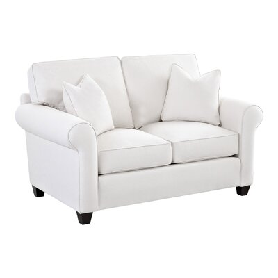 Eliza Loveseat Body Fabric: Bayou Stone, Pillow Fabric: Bayou Stone