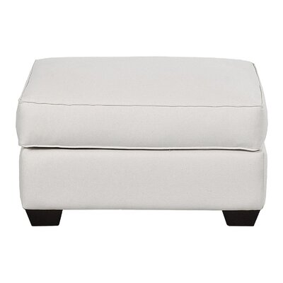 Avery Ottoman Body Fabric: Spinnsol Optic White