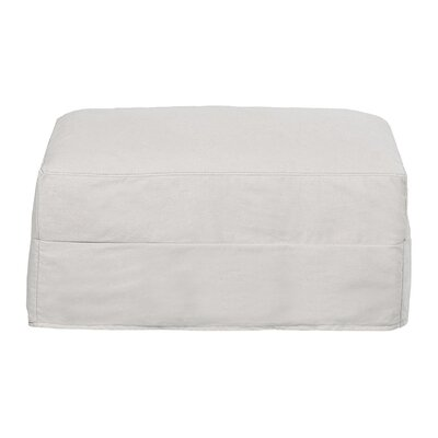 Maggie Ottoman Body Fabric: Spinnsol Optic White