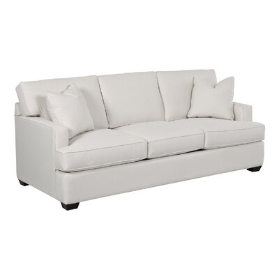 Avery Sofa Body Fabric: Pebble Ivory, Pillow Fabric: Pebble Ivory
