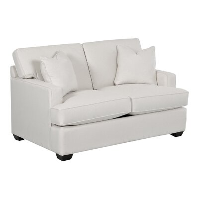 Avery Loveseat Body Fabric: Pebble Greystone, Pillow Fabric: Pebble Greystone