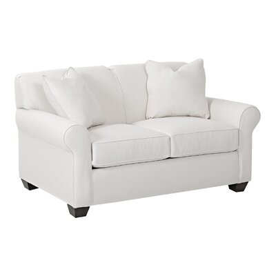 Jennifer Loveseat Body Fabric: Draft Ivory, Pillow Fabric: Draft Ivory