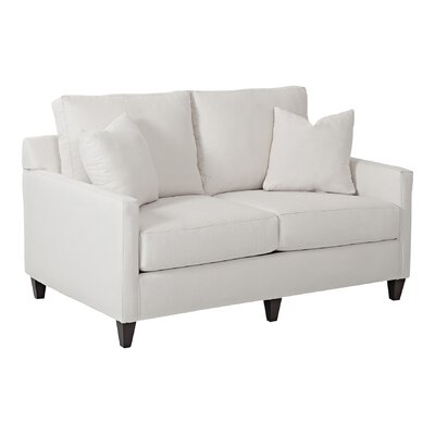 Spencer Loveseat Body Fabric: Draft Ivory, Pillow Fabric: Draft Ivory