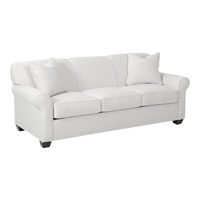 Jennifer Sofa Body Fabric: Pebble Ivory, Pillow Fabric: Pebble Ivory