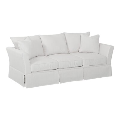 Shelby Sofa Body Fabric: Hanover Concrete, Pillow Fabric: Hanover Concrete