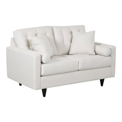 Harper Loveseat Body Fabric: Draft Ivory