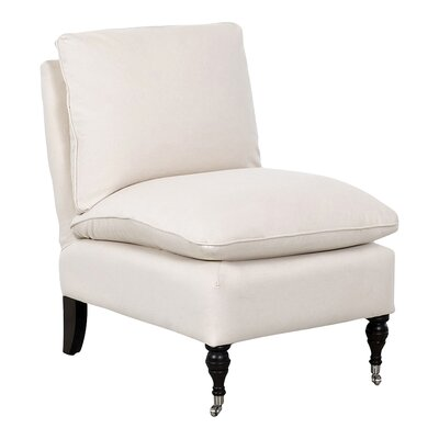 Katherine Slipper Chair Body Fabric: Bull Natural