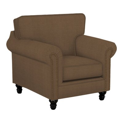Vivian Arm Chair Body Fabric: Hilo Rattan, Nailhead Finish: Pewter