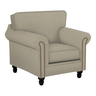 Vivian Arm Chair Body Fabric: Hilo Seagull, Nailhead Finish: Pewter