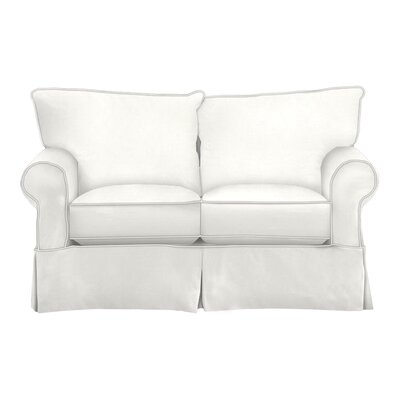 Felicity Loveseat Body Fabric: Classic Bleach White