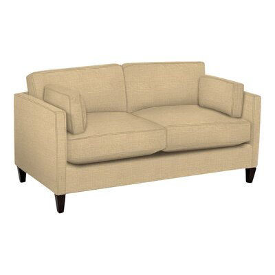 Caroline Loveseat Body Fabric: Trillion Saffron, Pillow Fabric: Trillion Saffron