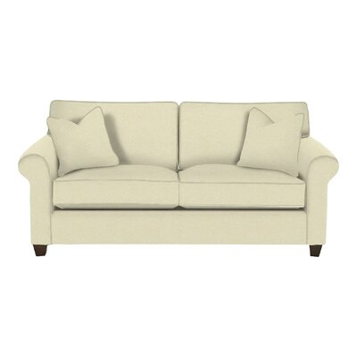 Eliza Sleeper Sofa Body Fabric: Lizzy Linen, Pillow Fabric: Lizzy Linen