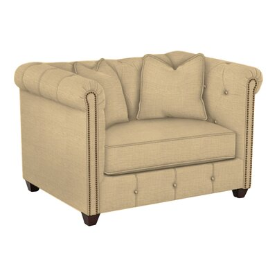 Harrison Mid Century Accent Club Chair Body Fabric: Trillion Saffron
