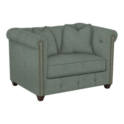 Harrison Mid Century Accent Club Chair Body Fabric: Lizzy Surf