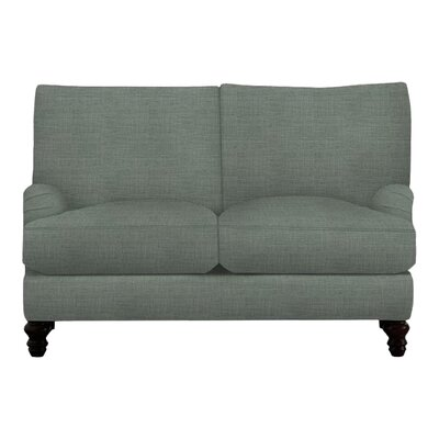 Delphine Loveseat Body Fabric: Lizzy Surf, Pillow Fabric: Lizzy Surf