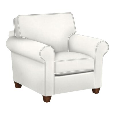 Eliza Arm Chair Body Fabric: Classic Bleach White