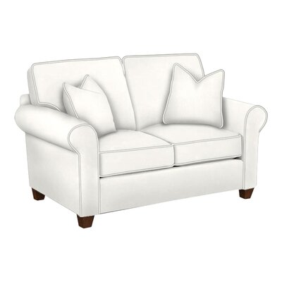 Eliza Loveseat Body Fabric: Classic Bleach White, Pillow Fabric: Classic Bleach White