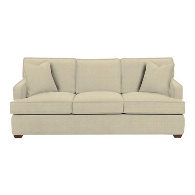 Avery Sofa Body Fabric: Hilo Flax, Pillow Fabric: Hilo Flax