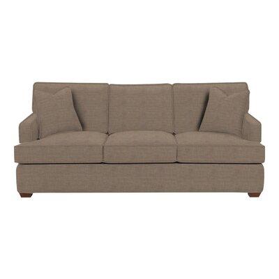Avery Sofa Body Fabric: Lizzy Hemp, Pillow Fabric: Lizzy Hemp