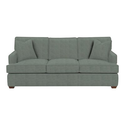 Avery Sofa Body Fabric: Lizzy Surf, Pillow Fabric: Lizzy Surf