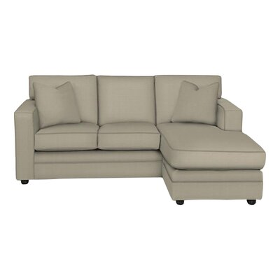 Andrew Reversible Chaise Sectional Body Fabric: Hilo Seagull, Pillow Fabric: Hilo Seagull