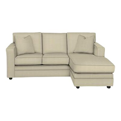Andrew Reversible Chaise Sectional Body Fabric: Hilo Flax, Pillow Fabric: Hilo Flax