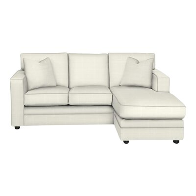 Andrew Reversible Chaise Sectional Body Fabric: Classic Bleach White, Pillow Fabric: Classic Bleach White