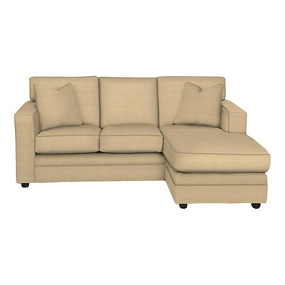 Andrew Reversible Chaise Sectional Body Fabric: Trillion Saffron, Pillow Fabric: Trillion Saffron