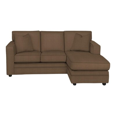 Andrew Reversible Chaise Sectional Body Fabric: Hilo Rattan, Pillow Fabric: Hilo Rattan