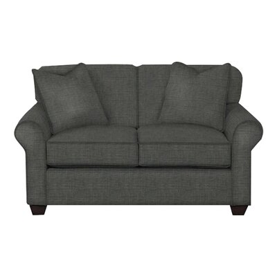 Jennifer Loveseat Body Fabric: Lizzy Graphite, Pillow Fabric: Lizzy Graphite