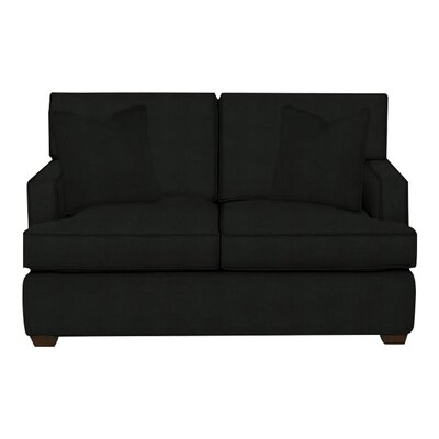 Avery Loveseat Body Fabric: Hilo Graphite, Pillow Fabric: Hilo Graphite
