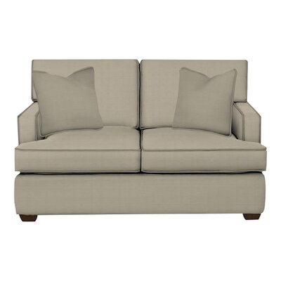 Avery Loveseat Body Fabric: Hilo Seagull, Pillow Fabric: Hilo Seagull