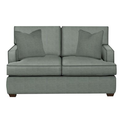 Avery Loveseat Body Fabric: Lizzy Surf, Pillow Fabric: Lizzy Surf