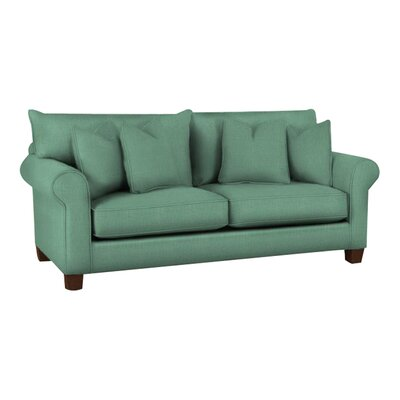 Natalie Sofa Body Fabric: Draft Turquoise