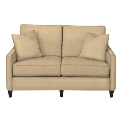 Spencer Loveseat Body Fabric: Trillion Saffron, Pillow Fabric: Trillion Saffron