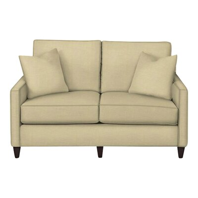 Spencer Loveseat Body Fabric: Lizzy Linen, Pillow Fabric: Lizzy Linen