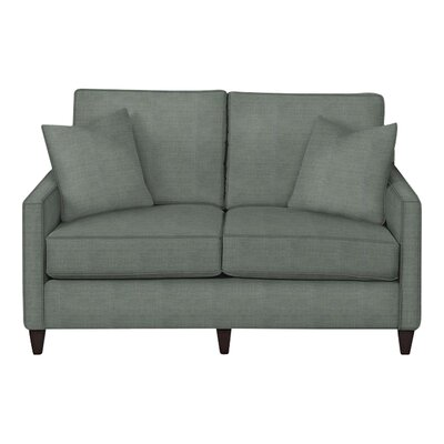 Spencer Loveseat Body Fabric: Lizzy Surf, Pillow Fabric: Lizzy Surf