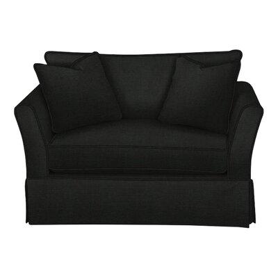 Shelby Chair and a Half Body Fabric: Hilo Graphite, Pillow Fabric: Hilo Graphite