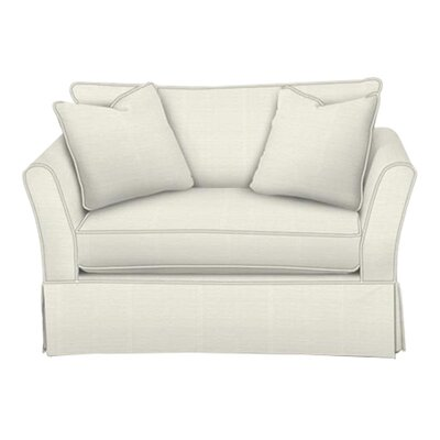 Shelby Chair and a Half Body Fabric: Classic Bleach White, Pillow Fabric: Classic Bleach White