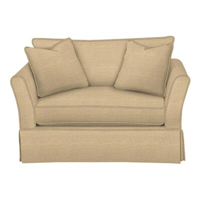 Shelby Chair and a Half Body Fabric: Trillion Saffron, Pillow Fabric: Trillion Saffron