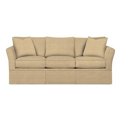 Shelby Sofa Body Fabric: Trillion Saffron, Pillow Fabric: Trillion Saffron