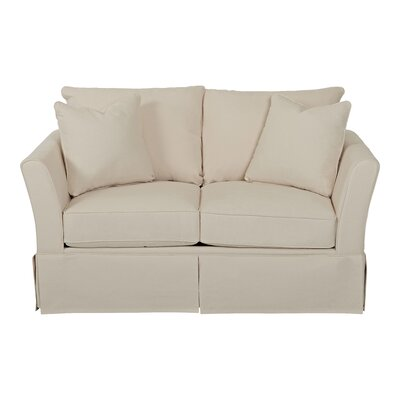 Shelby Loveseat Body Fabric: Bull Natural, Pillow Fabric: Bull Natural