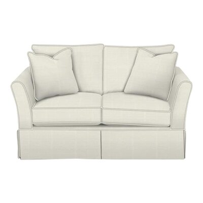 Shelby Loveseat Body Fabric: Classic Bleach White, Pillow Fabric: Classic Bleach White
