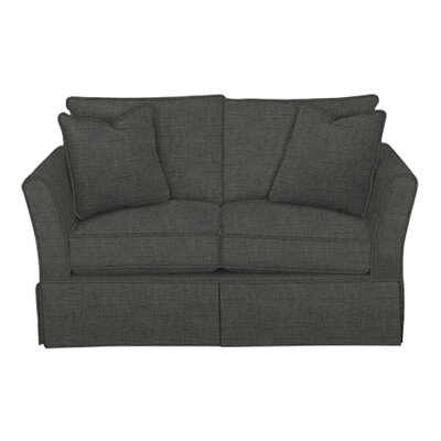 Shelby Loveseat Body Fabric: Lizzy Graphite, Pillow Fabric: Lizzy Graphite