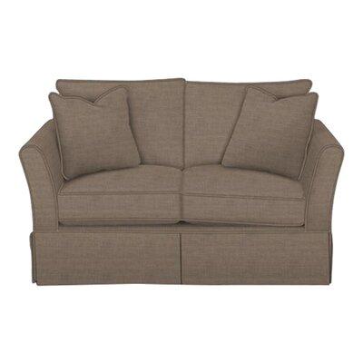 Shelby Loveseat Body Fabric: Lizzy Hemp, Pillow Fabric: Lizzy Hemp