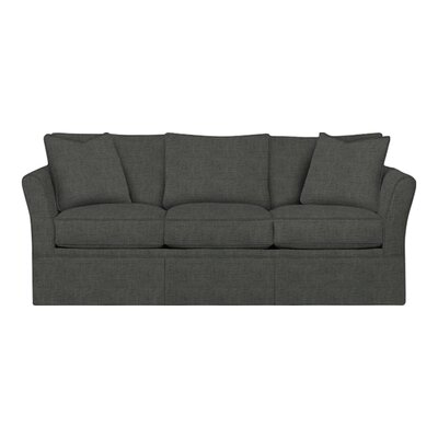Shelby Sofa Body Fabric: Lizzy Graphite, Pillow Fabric: Lizzy Graphite
