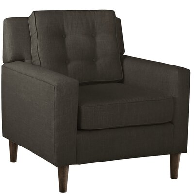 Elena Arm Chair Upholstery: Linen Charcoal